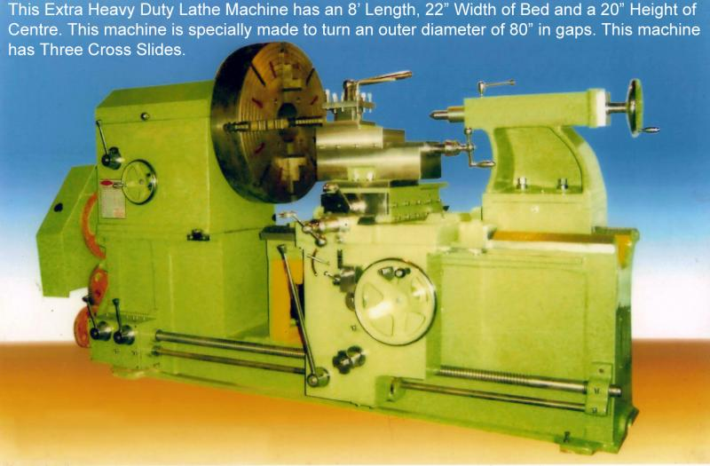 Extra Heavy Duty Lathe Machine with 80 Inch Swing